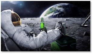 Astronaut with Soda